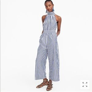 J. Crew Stripe Jumpsuit (NEVER WORN)